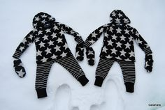Children´s merino knit sets; shirt, trousers/leggings, beanie and mittens