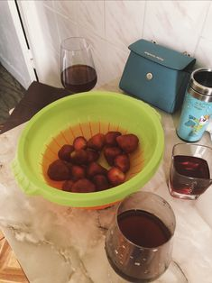 #wine #strawberry #friends
