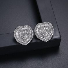These powerful heart-shaped statement earrings are meticulously crafted with fine Austrian crystals and Swarovski elements that impart a luxurious sparkling look to these stunning earrings. Artificial Diamond earrings for women. Crystal Earrings, Statement Earrings, Women's Earrings, Diamond Earrings For Women, Diamond Studs, Earrings Artificial, Fashion Earrings, Fashion Jewelry, Buy Crystals