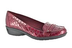 Women's Easy Street Zire - Burgundy Patent Croco