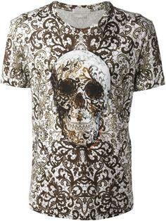 Love this: Lace Skull Print Tshirt @Lyst