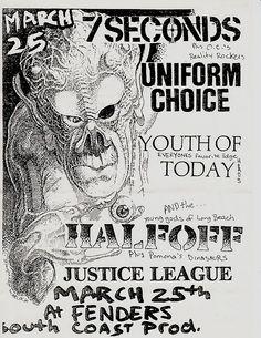 Necros, Void, Antidote punk hardcore flyer by changezine ...