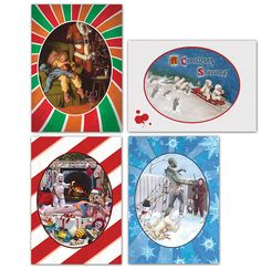 Zombie Xmas cards. Too funny!!  1 each of four different designs for 8 bucks.
