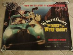 Wallace and Gromit Movie Poster The Curse of The Were Rabbit | eBay