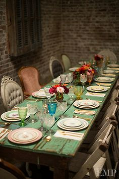 Mix and Match wedding table setting