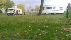 Camperplaats modulair groen.