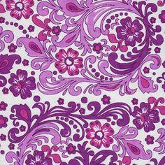 pretty purple paisley pattern lavender