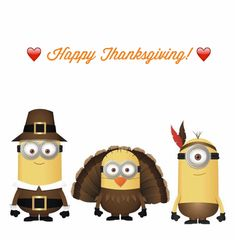 Thanksgiving minions wallpaper