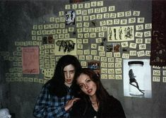Fitzgerald House - Ginger and Brigitte's Bedroom.Their 'countdown calendar' in their bedroom.When the film begins they are 189 days away fro their suicides. Movies Showing, Movies And Tv Shows, Ginger Snaps Movie, Katharine Isabelle, Together Forever, Teenage Dream, Horror Films, Scary Movies, Cultura Pop