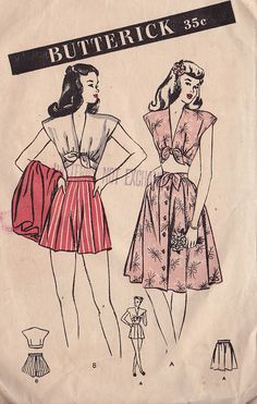 Vintage Sewing Patterns Inspiring My Style (and DIYs) Right Now… (a pair & a spare) Vintage Dress Patterns, Clothing Patterns, Vintage Dresses, Vintage Outfits, Retro Clothing, 1940s Fashion, Look Fashion, Vintage Fashion, Feminine Fashion