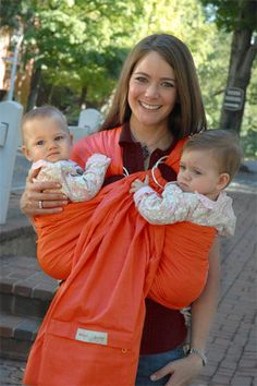 Maya Wrap Baby Sling Pumpkin Twins. Saw one of these while I was at the store and its one of the coolest things I've ever seen.