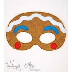 Gingerbread Boy ITH Mask Embroidery Design