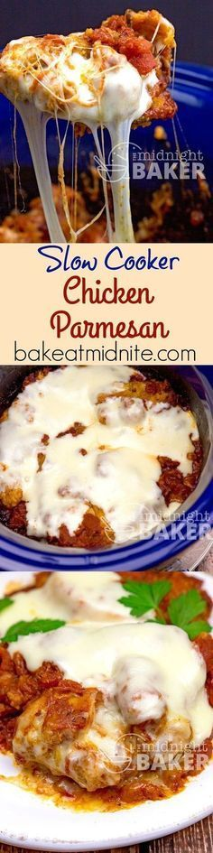 Slow Cooker Chicken Parmesan ~ everyone's favorite Italian dish adapted to the crock pot, using a convenience ingredient to make it easier than ever!