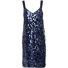 Blumarine Tulle Overlay Sequin Dress (32680 TWD) ❤ liked on Polyvore featuring dresses, blue sequin dress, blue dresses, sequin embellished dress, blue overlay dress and blue color dress