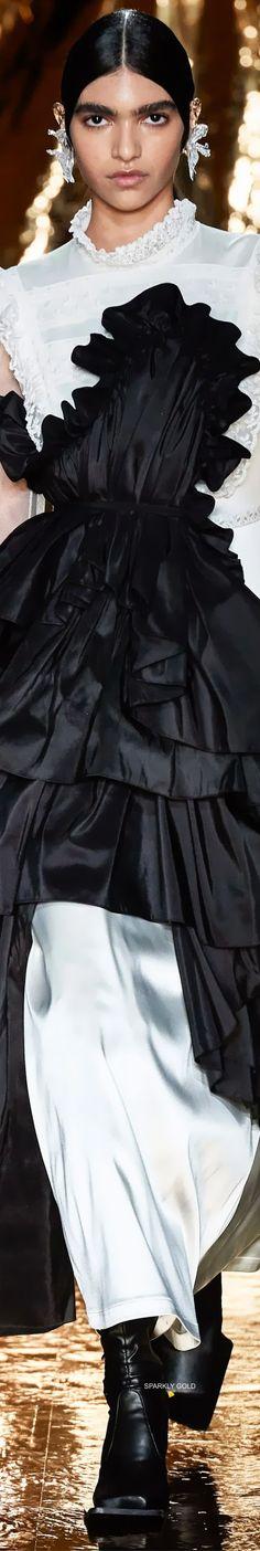 Preen by Thornton Bregazzi Fall 2020 RTW Thornton Bregazzi, Beachwear, Swimwear, Outfit Of The Day, Autumn Fashion, Ruffle Blouse, Street Style, Elegant, Fashion Brands
