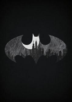 un logo, une ville, un super-héros | batman, gotham city