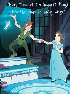 Peter Pan shows how easy it is to fly. It's the same as having wings.