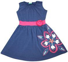 """Nohi Kids """"Floral"""" Banded Tank Dress"""