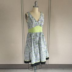 Dress made with City Life fabric
