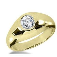 1.00 Karat Herren- Diamantring aus 585er Gelbgold