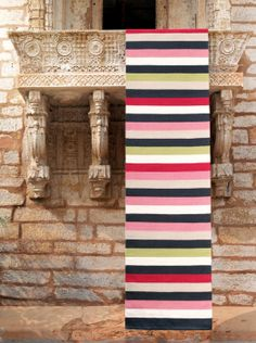 Ribbon Multi-Stripe by Armadillo & Co Exterior Paint, Interior And Exterior, Light Study, Hall Runner, Study Nook, Office Rug, Armadillo, Rugs On Carpet, Carpets
