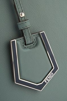 b33d25016bae Fendi - 2jours Petite Leather Shopper - Gray green Fendi 2jours