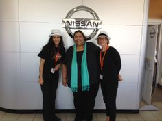 Griselda and Pat with Sheena Driver at AutoCom's new Nissan store in Concord, CA! #StrikeClubSiliconValley