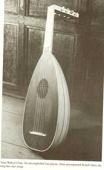 Anne Boleyn's Lute, the most fashionable musical instrument of the Tudor's time and later, during the reign of Charles II Stuart. It is known that Elizabeth I, Henry VIII, Louis XIII and Anne of Austria were talented musicians and played lute well. But Louis XIV preferred the guitar