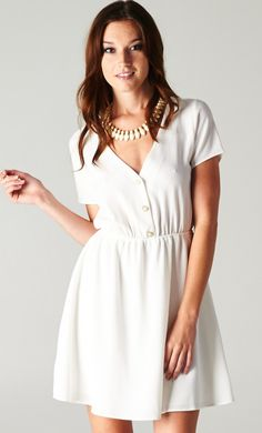 White Button Down Dress