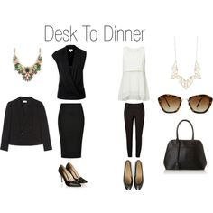 Desk to Dinner by styleright on Polyvore featuring Panacea