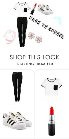 """""""Back to school, with cool."""" by emma-loves-fashion294 on Polyvore featuring MM6 Maison Margiela, adidas Originals and MAC Cosmetics"""