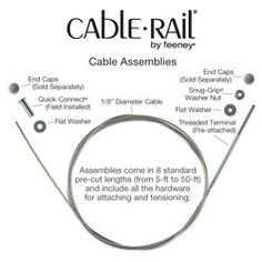 CableRail Stainless Steel Cable Assembly at Menards Wood Railing, Cable Railing, Deck Railings, Balcony Railing, Under Deck Storage, Cabin Decks, Entry Stairs, Under Decks, Decks And Porches