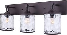 Canarm Cala 3 Light Vanity Light with Watermark Glass - Oil Rubbed Bronze - Easy Connect Included >>> You can find out more details at the link of the image. (This is an affiliate link) Vanity Lighting, Crystal Wall Sconces, Oil Rubbed Bronze, Vanity, Lighting And Ceiling Fans, Light Accessories, Best Bathroom Scale, Best Bathroom Lighting, Bathroom Fixtures