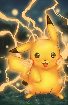 Glossy print of a cute Pikachu radiating electricity There are two sizes available: inches or inches. The is a rigid postcard, and the is printed on 100 pound glossy paper. Ash Pokemon, Pikachu Pokeball, Pikachu Art, Cool Pokemon, Pokemon Fan, Pokemon Fusion, Pokemon Cards, Cute Pokemon Wallpaper, Cute Disney Wallpaper