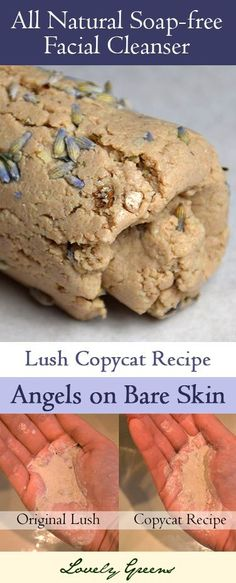 Copycat recipe for Lush& & on Bare Skin& - a very popular soap-free facial cleanser. , Recipe for a Gentle Facial Cleanser based on Lush's 'Angels on Bare Skin' Belleza Diy, Tips Belleza, Natural Beauty Tips, Natural Skin Care, Beauty Ideas, Lush Beauty, Beauty Guide, Beauty Secrets, Natural Makeup