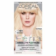 FERIA by L'Oreal Paris Absolute Platinum 'PLATINUM' Advanced Lightening Hair Color (Pack of 2) -- Want additional info? Click on the image. (This is an affiliate link and I receive a commission for the sales)