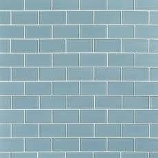 Spa Blue Shiny Glass Tile - 3 x 6 - 913102050 Blue Glass Tile, Mosaic Glass, Mosaic Tiles, Wall Tiles, Parts Of Stairs, Brick And Stone, Kitchen Backsplash, Backsplash Ideas, Tile Ideas