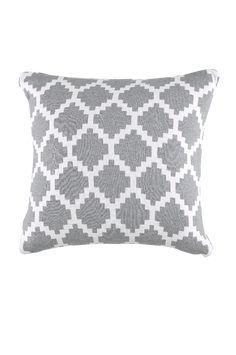Et herlig, uliksidig, strikket putetrekk i jacqardmønster. Størrelse 45x45 cm.