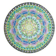 zöld Nap-spirál mandala / green Sun-Spiral mandala