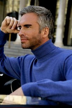 Graying hair #hair #style #model #male #silver #grey