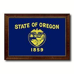 Oregon State Flag Giclee On Canvas Custom Made Frame Gift Ideas office Home Wall Décor Livingroom Decoration Art Interior Design AllChalkboard http://www.amazon.com/dp/B00V4DFUS4/ref=cm_sw_r_pi_dp_k1XIvb02K5X8H