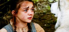 She named her direwolf Nymeria after a famous warrior queen. | 27 Reasons Arya Stark Is The Baddest Bitch In Westeros