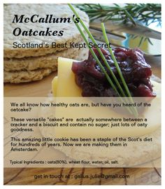 McCallum's Oatcakes flyer.