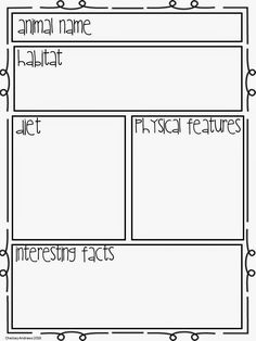 Animal Research template (freebie) | Writing | Pinterest | Template ...
