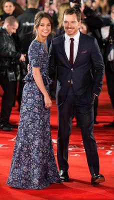 """Michael Fassbender and Alicia Vikander at the London Premiere of """"The Light Between Oceans""""(19-10-2016)"""