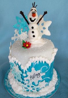 Olaf Cake For all your cake decorating supplies please visit