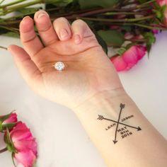 Wedding Temporary Tattoos Arrow Design By Kristenmcgillivray