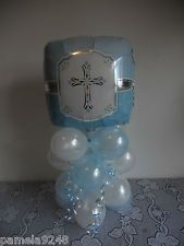 Baptism Centerpieces   NEW CHRISTENING/COMMUNION/BAPTISM CELEBRATION BALLOON TABLE DECORATION ...