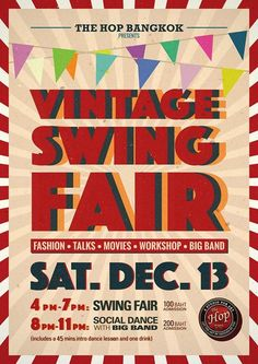Event details about Vintage Swing Fair at The Hop in Bangkok. Find more Events on BKK Events