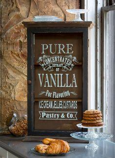 Antique Style Vanilla Extract Display Case